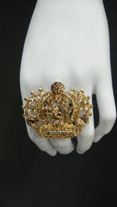 Princess Crown Ring made with Light Colorado by MariannaHarutunian, $48.00