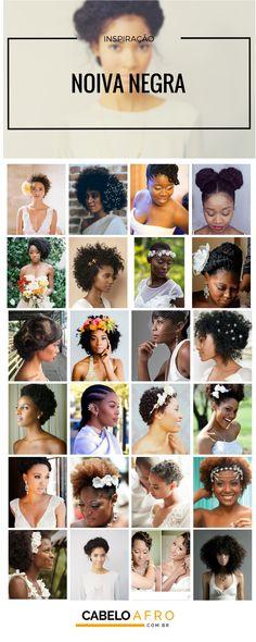 Quer ter um cabelo incrível no grande dia? Vem que aqui tem várias imagens de inspiração de penteados para casamento para cabelos curtos e crespos!