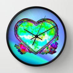 Melting Heart Wall Clock by Jan4insight on Society6 -   WALL CLOCK / BLACK BLACK $30.00