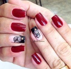 Inspiração @madahsantana Nail Colors, Nail Designs, Pretty, Outfits, Beauty, Red Toenails, Art Nails, Nail Bling, Designed Nails