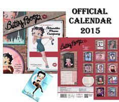 BETTY BOOP OFFICIAL CALENDAR 2015 + BETTY BOOP FRIDGE MAGNET: Amazon.co.uk: Kitchen & Home