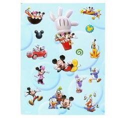 UPD KMST Mickeys Clubhouse Raised Sticker Sheet #Disney