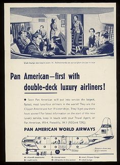 Civilian version of a . Retro Travel Inspiration - Everything PanAm, virtual PanAm museum. Oh, how travel was so different back then. Travel Ads, Air Travel, Vintage Travel Posters, Vintage Ads, Old Planes, Pan Am, Airplane Travel, Art Deco Posters, Vintage Airplanes