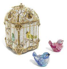 (via vintage judith leiber bird cage handbag Judith Leiber, Beaded Purses, Beaded Bags, Unique Purses, Unique Handbags, Vintage Purses, Vintage Hats, Cute Bags, Womens Purses