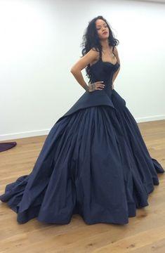 Ball Gown ,Navy Blue Evening Dress ,formal dress,evening dress,long formal dress,long evening dresses