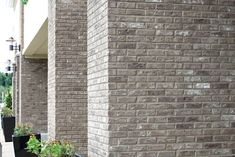 Meridian™ Brick – Brick Manufacturer & Masonry Supplier Network US, CA Metal Building Homes, Building A House, Grey Siding, Vinyl Siding, Grey Brick Houses, Brick Columns, Metal Buildings, Exterior House Colors, Paint Colors For Home
