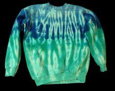 Tie-dye crewneck sweatshirt:  long sleeved adult S. $32.00, via Etsy.