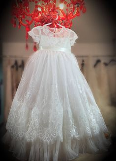 Christening gown, lace baptism dress, lace christening dress- private listing by MariaArcieroCouture on Etsy https://www.etsy.com/listing/533585507/christening-gown-lace-baptism-dress-lace