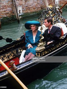 Princess Diana and Prince Charles riding in a gondola during a visit to Venice, April The princess is wearing a green and black check suit and matching hat by the Emanuels. Get premium, high resolution news photos at Getty Images Prince Harry Diana, Princess Diana Death, Princess Kate, Prince Charles, Charles And Diana, Black Check Suit, Palace, Diana Memorial, Princess Diana Pictures