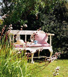 Pretty bench in the garden...