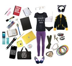 """Untitled #109"" by reboundrainbow ❤ liked on Polyvore featuring Fuji, Peek, Disney, Coleman, Casetify, Victoria's Secret, Rich & Skinny, Kirra, Pier 1 Imports and Muji"