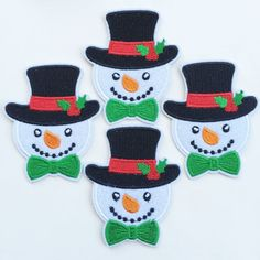 Set of 10pcs X'mas Christmas Snow Man with Hat Iron On Sew On Cloth Embroidered Patches Appliques Machine Embroidery Needlecraft Sewing Girls projects *** You can find out more details at the link of the image.