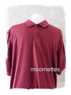 Haggar #Golf #Shirt Mens L Casual Polo Short Sleeve Maroon Claret Red Large #Haggar