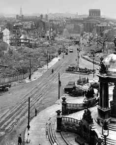Bombed Liverpool. My mother and I slept in the Mersey Tunnel during the bombing..I can still hear it after 70yrs..