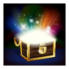 Sparkling Rays Treasure Chest Vector Graphic - http://www.dawnbrushes.com/sparkling-rays-treasure-chest-vector-graphic/