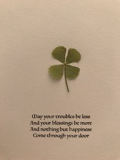 Real 4 leaf clover / Irish Blessing / unique by NatureUpcycled Native American Quotes, American Symbols, American Indians, St Pattys, St Patricks Day, Nursery Rhymes Lyrics, Impression Poster, 4 Leaves, Irish Quotes