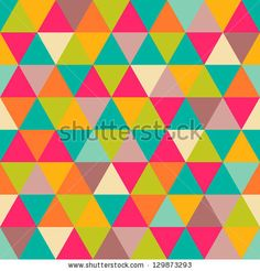 Abstract geometric triangle seamless pattern by Victoria Kalinina, via ShutterStock