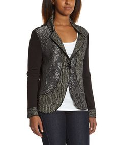Look at this #zulilyfind! Gray & Black Floral Blazer by I-N-S-I-G-H-T New York #zulilyfinds
