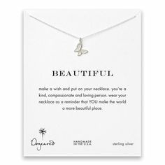beautiful butterfly necklace, sterling silver - Dogeared