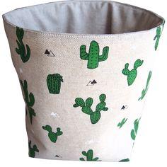 Vide poche cactus aspect lin