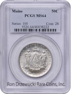 PCGS MS64 Maine Front