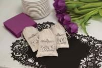 Cotton Celebration of Love and Friendship Favor Bags White, 100% Cotton Favor Bags with Celebration of Love and Friendship printed in Blac...