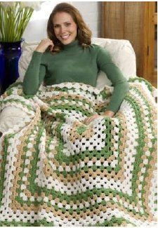 """This is called the """"Weekend Wonder Granny Square Throw"""". My sisters and I have actually made blankets like this when we were teenagers and just learning to crochet. You just keep adding rows until it's a size you like. I've never done one in a weekend, but it does go by quickly."""