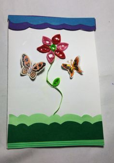 flower and buterfly card