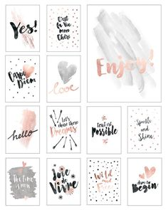 Calendar 2018 with motivational sayings on wooden clipboard print candy - Motivating calendar 2017 with sayings in format. Colors: black and copper handy spiral tape with - Cute Calendar, Free Printable Calendar, Printable Planner Stickers, Printable Wall Art, Free Printables, Free Printable Quotes, Deco Rose, Wall Art Quotes, Bullet Journal Inspiration