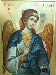 Icon orthodox Religious Icons, Religious Art, Friend Of God, Greek Icons, Religious Paintings, Byzantine Icons, Archangel Michael, Art Icon, Orthodox Icons
