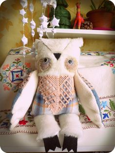 Nordic owl , soft art toy
