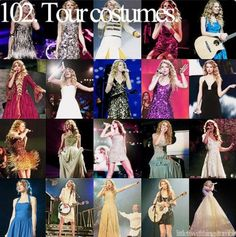 Taylor Swift tour costumes.