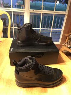 a9f4ca0f196e2 Nike Air Force 1 Foamposite Cup Shoes Triple Black AH6771-001 Men s NEW  Size 8
