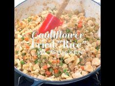 Healthy Chicken Cauliflower Fried Rice Recipe