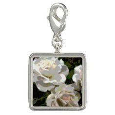 Charm White Roses Photo #zazzle #charm #jewelry #gifts