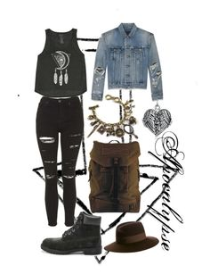 """""""Apocalypse"""" by aliae ❤ liked on Polyvore featuring moda, Billabong, Yves Saint Laurent, Topshop, Emi Jewellery, Bling Jewelry, Vans, DamnDog y Maison Michel"""