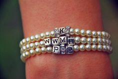 KMHM pearl id bracelets by PlatformsandPearls on Etsy, $20.00