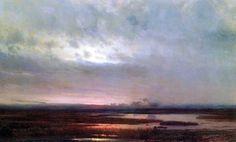 Zachód słońca nad bagnem 1871 - Aleksiej Sawrasow