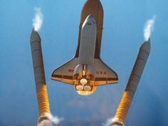 Solid booster separation - space shuttle