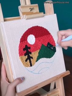 Hand Embroidery Videos, Embroidery Stitches, Embroidery Patterns, Punch Needle Kits, Punch Needle Patterns, Flower Embroidery Designs, Needlework, Stationery, Diy Projects