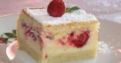 Gâteau magique à la vanille framboises. Un gâteau à la framboise entre surprise et délice.... La recette par La neuvième planète.