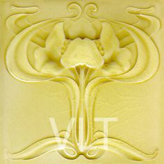 Art Nouveau Reproduction Tile #112, from Villa Lagoon Tile