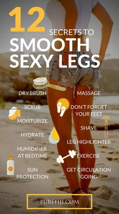 Even if you don't plan to strut around in a bikini you still want your legs to look soft and sun-kissed. Skin is your body's largest organ. It's affected by every aspect of your life, from what you eat, to what you put on, to where you live. Read to learn Moisturizer For Oily Skin, Oily Skin Care, Anti Aging Skin Care, Best Skin Care Regimen, Skin Care Tips, Skin Care Routine Steps, Organic Skin Care, Natural Skin Care, Smooth Legs