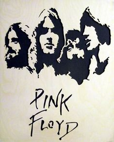 Pink Floyd Wood Portrait by smwoodcrafts on Etsy Music Silhouette, Pink Floyd Art, The Dark Side, Classic Rock Bands, Caricature Artist, Wood Burning Patterns, 3d Laser, Stencil Templates, Stencil Art
