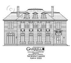 Regency manor house plan 05203 2nd floor plan luxury for European manor house plans