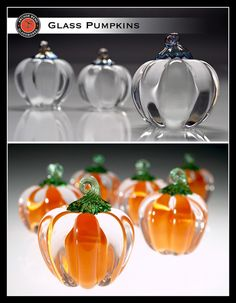 Small Pumpkin by Anchor Bend Glassworks. American Made. See the designer's work at the 2016 American Made Show, Washington DC. January 15-17, 2016. americanmadeshow.com #americanmadeshow, #americanmade, #artglass, #sculpture, #pumpkin