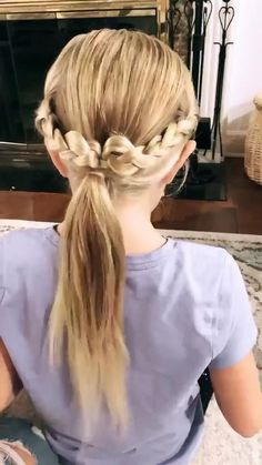 Baby Girl Hairstyles, Easy Hairstyles For Long Hair, Up Hairstyles, Kids Braided Hairstyles, Easy Cute Girls Hairstyles, Pretty Hairstyles For School, Easy And Beautiful Hairstyles, Easy Hairstyle Video, Office Hairstyles