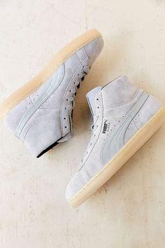 Puma Suede Rebel Mid-Top Sneaker: Grey