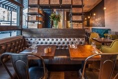 Melange restaurant is a project designed by In Arch in covers an area of 140 sqm and is located in London, UK Uk Retail, Wine Shelves, Cafe Restaurant, Restaurant Interiors, Design Furniture, Wood And Metal, Rustic Style, Office Decor, House Design