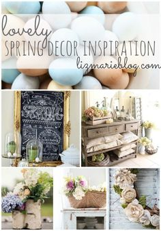 Lovely spring home decor inspiration. A must pin for spring decor DIYs & decorating - lizmarieblog.com